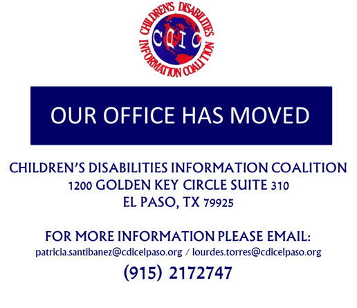 CDIC Has Moved 1200 Golden Key Circle Suite 310