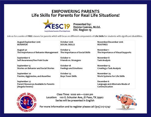 Empowering Parents: Join Us Free weekly Classes for Parents.  August through December